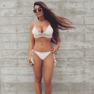 swimwear she made me crochet bikini white