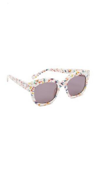 sunglasses white grey