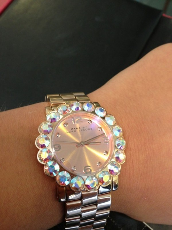 jewels watch bling marc jacobs marc jacobs watch nice girly fashion