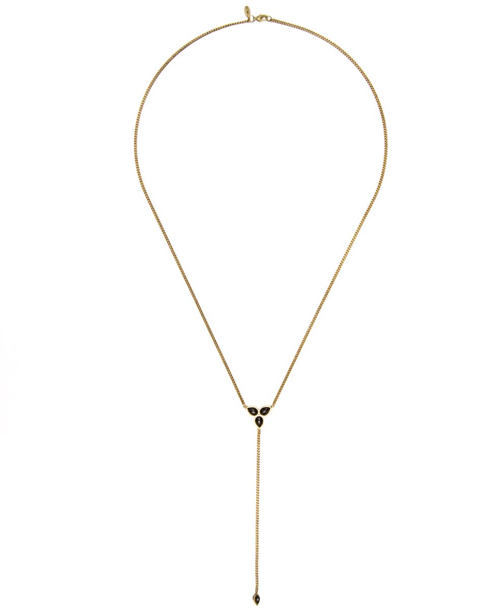 Artemis Rosary in Onyx/Brass