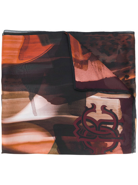 Roberto Cavalli women scarf silk brown
