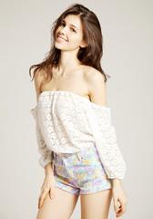 Off-the-Shoulder Lace Blouse