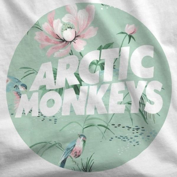 shirt arctic monkeys band t-shirt pastel