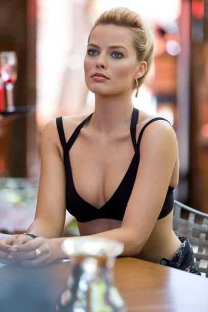 swimwear bikini bikini top margot robbie summer outfits maillot de bain black bathers swimwear two piece