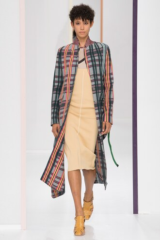 coat dress mini dress paris fashion week 2017 runway hermes