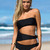 Cutout Bandeau Swimming Suit - Black - Lookbook Store