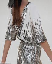 dress,white,silver,sparkle