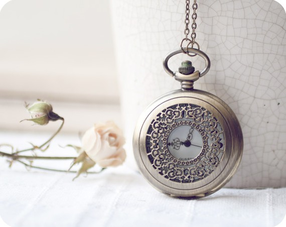 Time passing  antique brass pocket watch  free by beautyspot