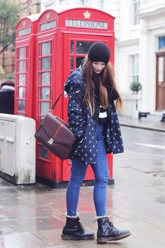 jacket sailor anchor naby outfit winter outfits fall outfits rain raincoat