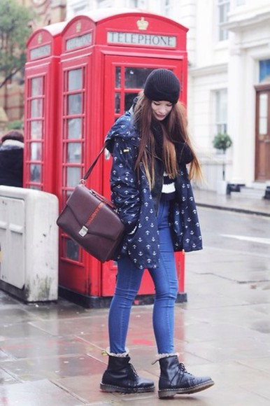 jacket rain coat rain sailor anchor naby outfit winter autumn rain jacket