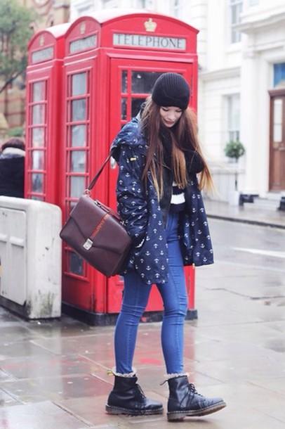 jacket sailor anchor naby outfit winter outfits fall outfits rain rain jacket rain coat