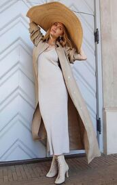 dress,midi dress,blogger,ankle boots,pernille teisbaek,blogger style,coat,hat
