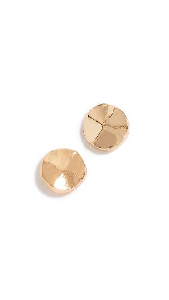 Gorjana Chloe Mini Stud Earrings in gold / yellow
