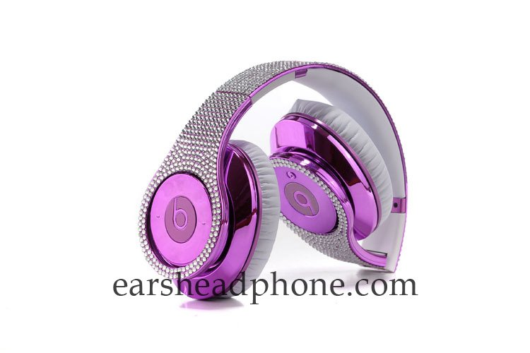 Cheapest Beats Monster Studio Bright Purple Luxury Full Diamond Sale [0407beats-Stud102] - $220.00 : Earheadphones Hot Sale Online Shop | Cheap Beats By Dre