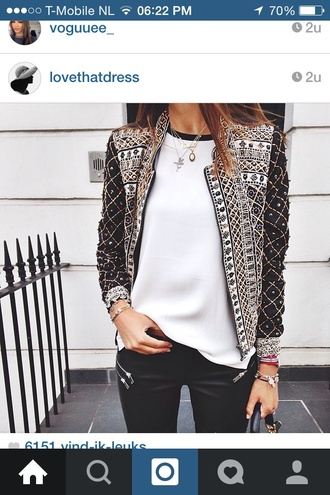 jacket beaded sparkle fashion black white summer spring blogger