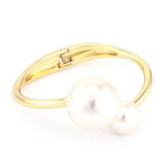 jewels jewel cult oversized pearls pearl pearl bracelet bangle bracelets hinged bracelet