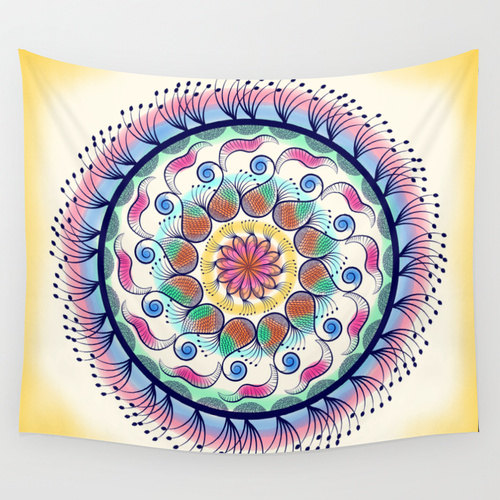 Mandala tapestry, Psychedelic tapestry, hippie, bohemian tapestry, wall tapestry, wall hanging