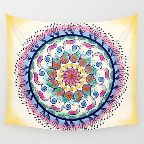 Mandala tapestry, Psychedelic tapestry, hippie, bohemian tapestry, wall tapestry, wall hanging