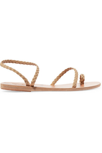 braided sandals leather sandals leather neutral shoes