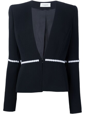 jacket embellished jacket pearl embellished black