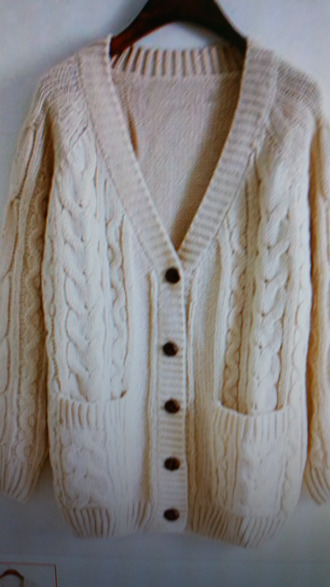 cardigan cream color knitted cardigan