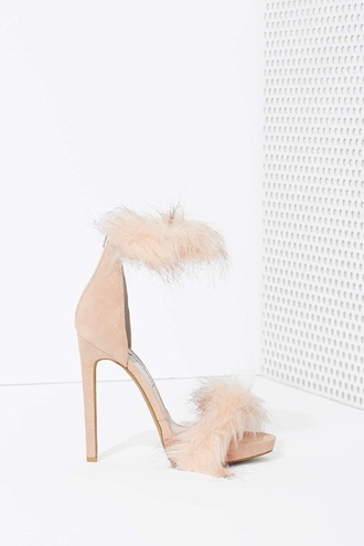 shoes fur heels heels with fur sexy new style