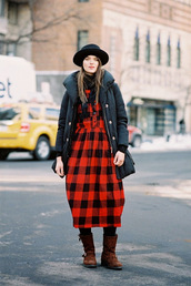 vanessa jackman,blogger,t-shirt,down jacket,lumberjack dress,flannel