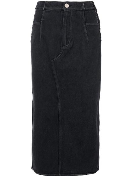 3.1 Phillip Lim skirt denim skirt denim women cotton black
