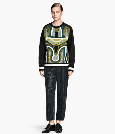 H&m sequined wide