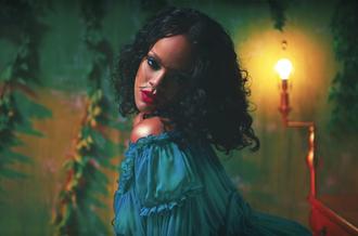 dress rihanna blue dress tumblr music video sexy