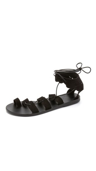 sandals black shoes
