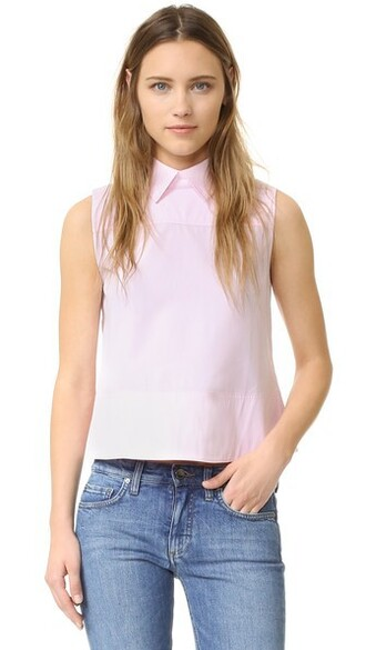 shirt sleeveless shirt sleeveless back pale candy top