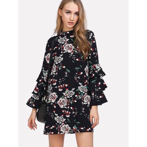 11a53796355 Fashiontage - Black Neckline Long Heels Dress - 686065123389