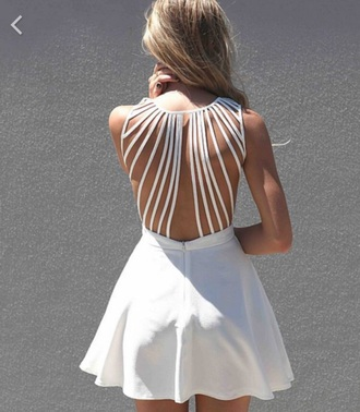 dress white dress open back dresses style