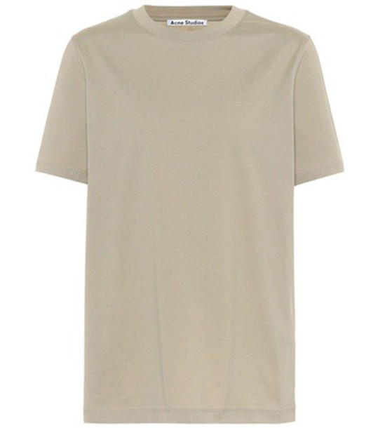Acne Studios t-shirt shirt cotton t-shirt t-shirt cotton green top