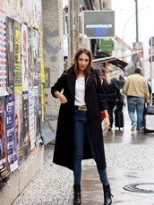 nina @ www.helloshopping.de,- it's a blog.,blogger,coat,t-shirt,belt,shoes,wool coat,black coat,ankle boots,fall outfits