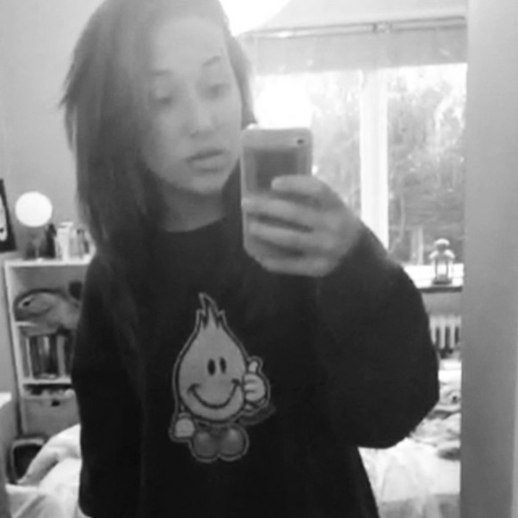 smiley face sweater smiley fire hipster black black sweater