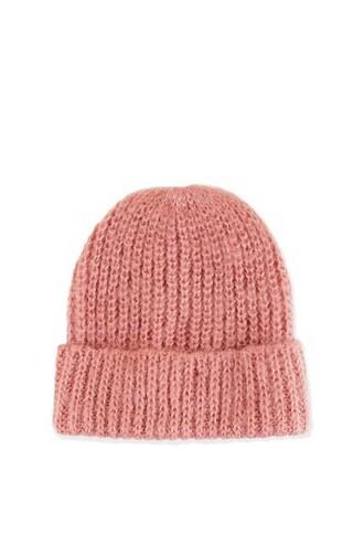 hat beanie pink