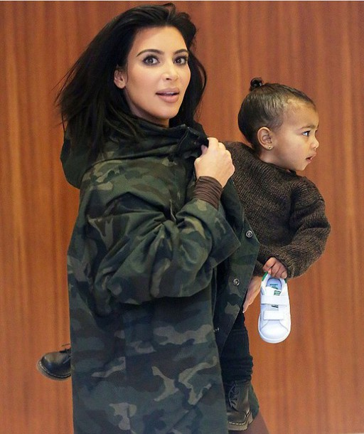jacket kim kardashian camo jacket yeezy military style fashion week