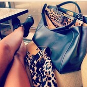 bag,leather,black,leopard print,victoria beckham