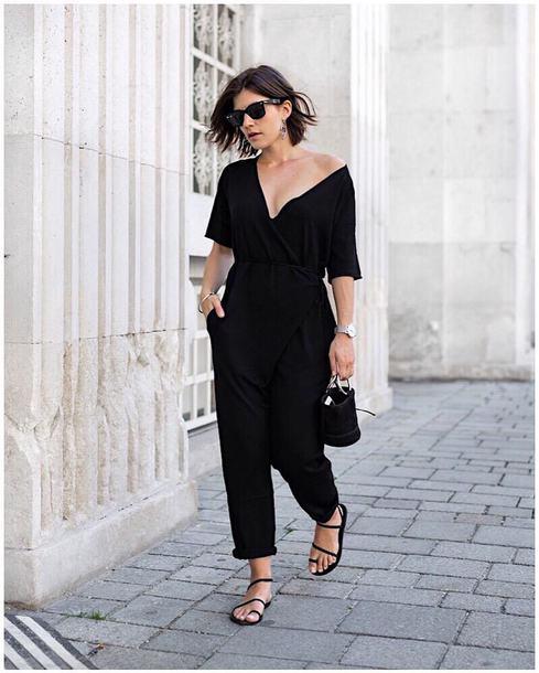 aba9bc1ed30 jumpsuit black jumpsuit tumblr sandals flat sandals black sandals shoes bag