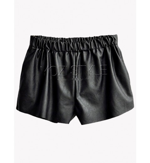 Faux Leather Shorts - Shorts - Bottoms - Clothing