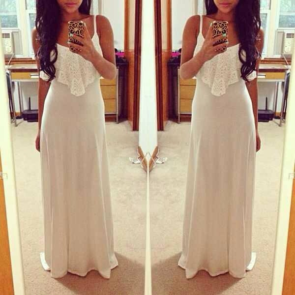 dress long dress white dress