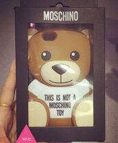 phone cover,moschino,moschino bear case,moschino bear