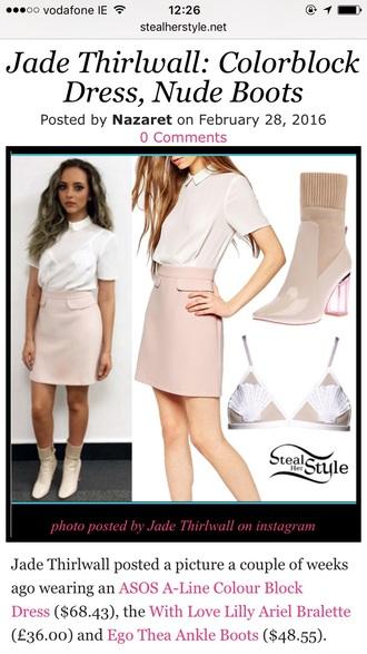 skirt nude little mix nude skirt mini skirt jade thirlwall