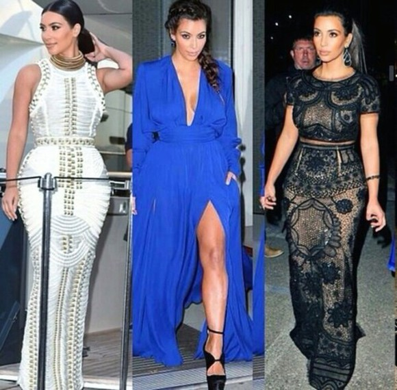 kim kardashian kim kardashian dress royal blue dress kim kardashian dress fashion stylish