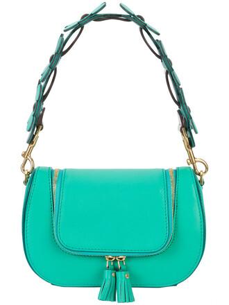 mini women bag shoulder bag leather green