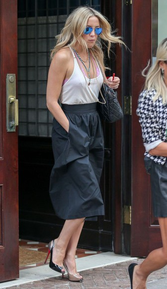 kate hudson pants sunglasses shoes