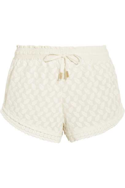 shorts embroidered cream