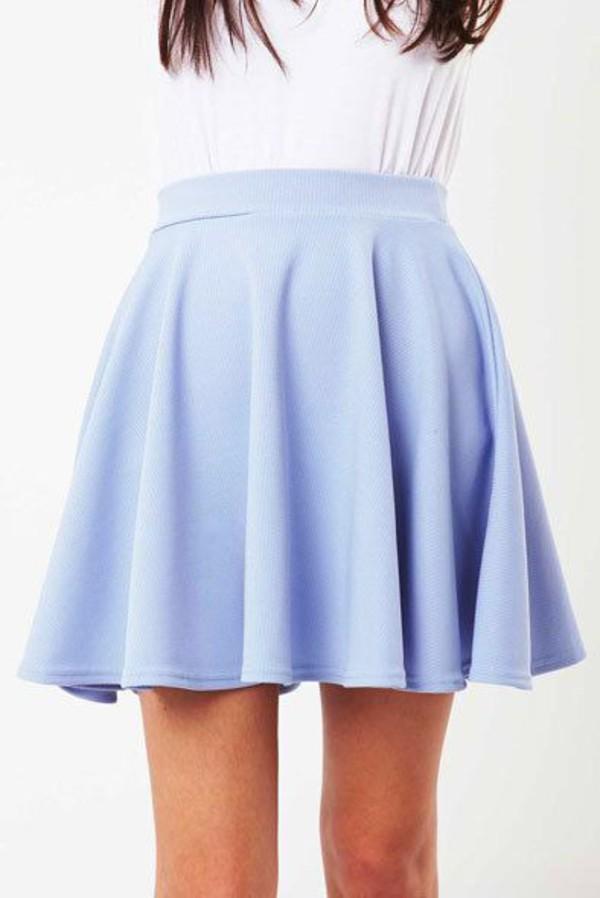 skirt pastel blue skirt skater skirt wheretoget